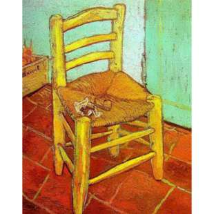 Schilderij Van Gogh chair with a pipe foto 1
