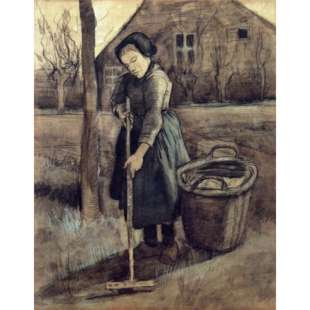 Schilderij The Girl Raking foto 1