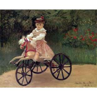 Schilderij Jean Monet On His Horse Tricycle foto 1