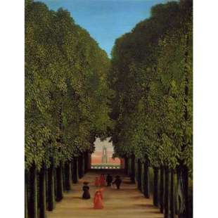 Schilderij The Avenue In The Park At Saint Cloud foto 1