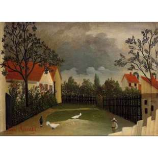 Schilderij The Poultry Yard foto 1