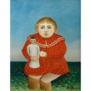Schilderij Child with Doll foto 1