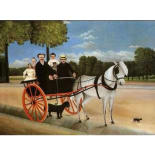 Schilderij Old Juniors Cart foto 1