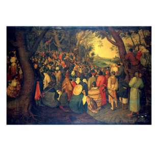 Schilderij The Preaching of Saint John the Baptist foto 1