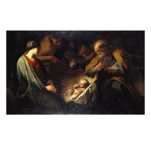 Schilderij The Adoration of the Shepherds foto 1