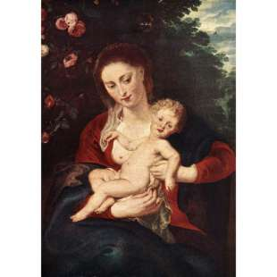 Virgin and Child van Rubens foto 1