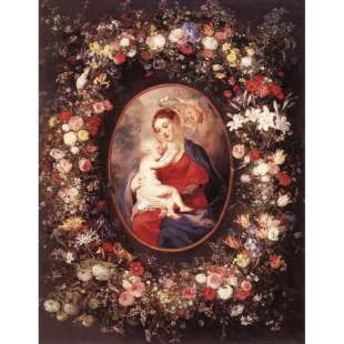 The Virgin and Child in a Garland of Flower - Rubens foto 1